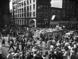 Pacific National Exhibition's Shrine Circus float in 1952 P.N.E. Opening Day Parade