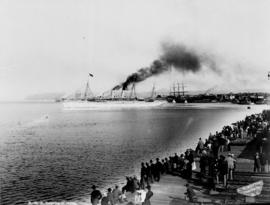 R.M.S. Empress of Japan [leaving Vancouver]