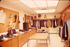 Interior view of a men's clothing store