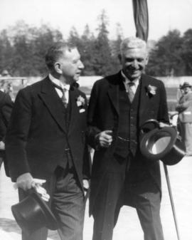 Lieutenant Governor R.R. Bruce and Exhibition President W. Leek at Exhibition opening