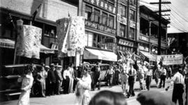 A Chinese parade on East Pender Street