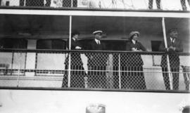 [H.R.H. The Duke of Connaught on a ship]