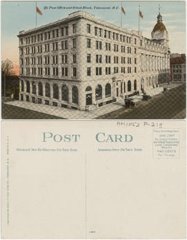 The Post Office and Winch Block, Vancouver, B.C.