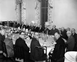 Round Table birthday luncheon for General Victor W. Odlum, left table