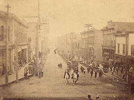 [View of Cordova Street looking east from Cambie Street]