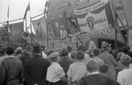 [The Warden and Russell Big House sideshow at the Pacific National Exhibition midway at Hastings ...