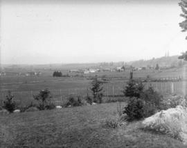 [View of farms in the Langley area of the Fraser Valley]
