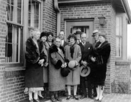 [L.D. Taylor and Kate Taylor Cooley family, Thanksgiving 1929]