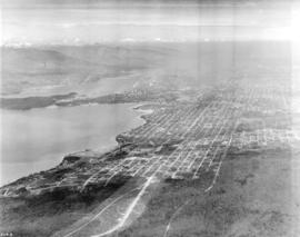 [Aerial view looking east over Point Grey]