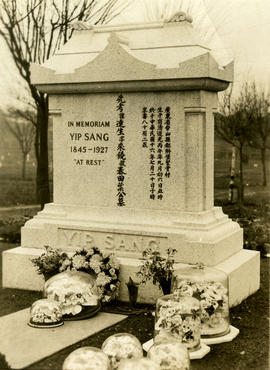[Yip Sang grave stone at Mountain View Cemetery]