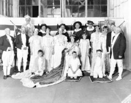 [L.D. Taylor and other members of an amateur theatrical group in costume]