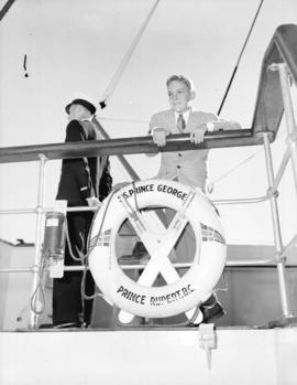 "Wallace Hawley [on a tour] aboard ""S.S. Prince George"""