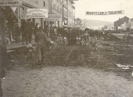 A street in Dawson City during the Klondike Rush