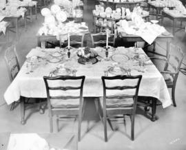[Spencer's Department Store table setting and chinaware displays]