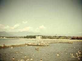 Kitsilano Beach pool, diving tower and pier