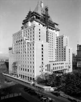 [Canadian National Hotel (Hotel Vancouver) from southwest corner]
