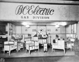 B.C. Electric Gas Division display of natural gas appliances