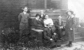 [The Briggs family on the steps of their house at 25th Avenue and Carnarvon Street]