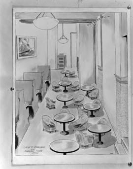 [Artist's drawing of the ladies' parlour at the Hotel Balmoral]