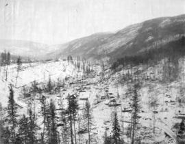 Switchback. C&W Ry. [Columbia and Western Railway], Trail Creek Gulch, Trail, B.C.