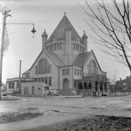 [Wesley Methodist Church under construction on the southwest corner of Burrard Street at Georgia ...