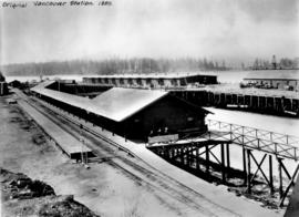 Original [First] Vancouver [C.P.R.] Station, 1889