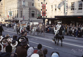 48th Grey Cup Parade, on Georgia and Howe, men and women on horseback