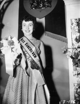 Miss Kitsilano after winning the Miss Vancouver pageant