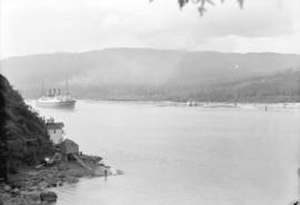 "[C.P.R. ship ""Empress of Canada"" entering first narrows of Burrard Inlet]"
