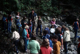 Group of children with camp leader at Camp Capilano