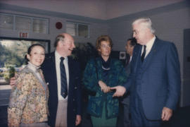 Unidentified man and woman with Alison Reid and Patrick Reid