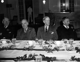 Round Table Christmas luncheon, MacKenzie, McGregor, Davis, Lett