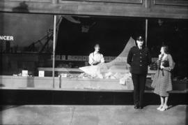Post Office sit-in [damage to storefront]