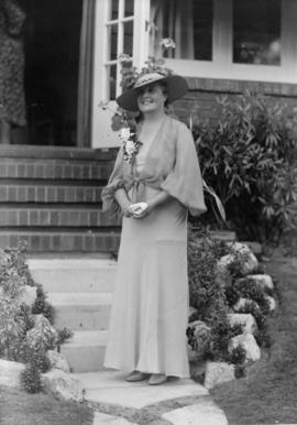 The Mayoress, Mrs. G.G. McGeer, at home, August 19th 1936