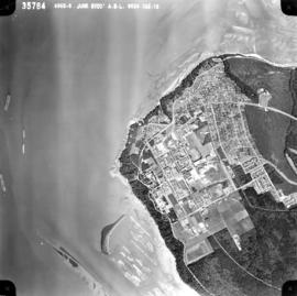 Aerial photo, vertical, University of British Columbia and University Endowment Lands