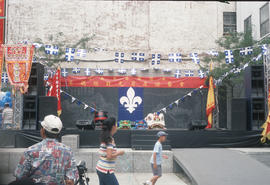 Outdoor stage in Montreal Chinatown