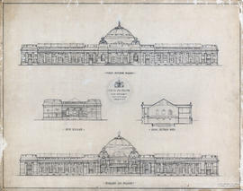 Elevations and cross-section