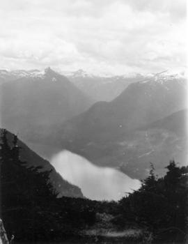 [View of Queen's Reach from Mount Victoria]