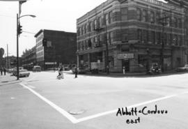 Abbott and Cordova [streets looking] east