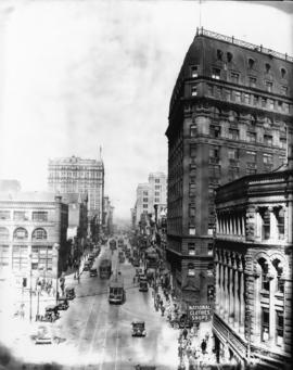 [View of Hastings Street looking west from Cambie Street]