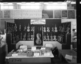 Violin Makers Association of B.C. display in 1957 P.N.E. Hobby Show