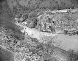 Hell's Gate fish ladder construction