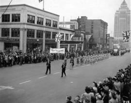 World War II Parade on Burrard Street, West Vancouver section