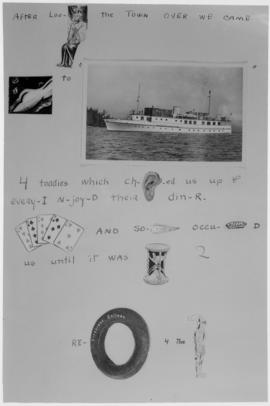 "Boeing W.E. - Rebus of Log Book from the yacht ""Taconite"" -  Page of Epigrams"