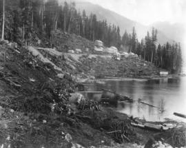 "Coquitlam Dam tunnel camp ""clearing"""