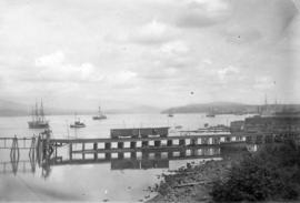 [C.P.R. transfer wharf at foot of Thurlow Street]