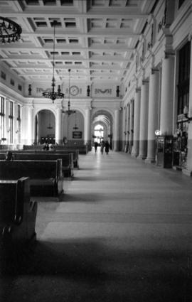 Interior of C.P.R. Station [at the foot of Granville Street]