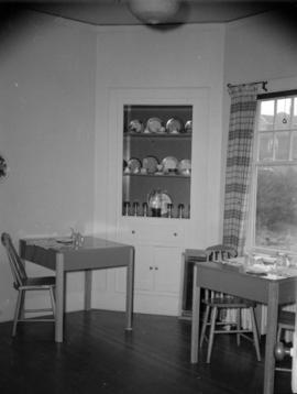 [Interior view of a dining area, possibly in a bed and breakfast or a rooming house]