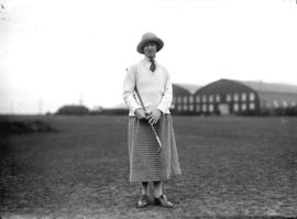[Mrs. Douglas Broome at the Jericho Country Club golf course]