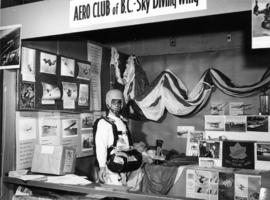 Aero Club of B.C. Sky Diving Wing display at 1963 P.N.E. Hobby Show